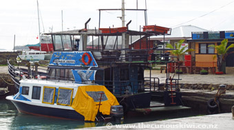Deep Blue cruise boat in Nuku'alofa harbour