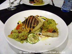 Fish dish at Waterfront Lodge
