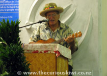 Mr Jake Numanga - a living legend - has welcomed & farewelled visitors at the airport for many years - Meitaki ma'ata