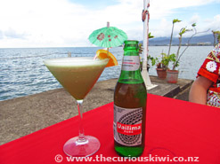 Cocktail & Beer at Apia Yacht Club