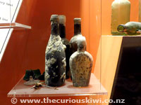Bottles recovered from Rotomahana Hotel at The Buried Village