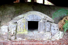 Original Stone Pataka (Storehouse) at The Buried Village