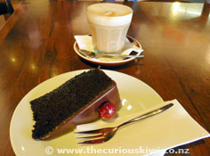Coffee and cake at Capers