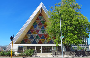 Exterior of Cardboard Cathedral