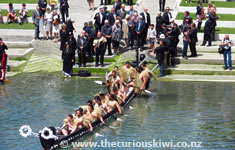 Happy Birthday Prince Charles, one of the Maori waka welcoming Prince Charles and Duchess of Cornwall on the Prince's 64th birthday (14/11/12)I