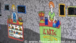 L'Arte Cafe mosaic counter