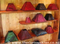 Possum Leather Cushions & Lamp Shades