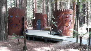 Unique toilets at The Redwoods Whakarewarewa Forest