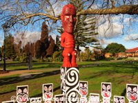 Totara Carving in Government Gardens