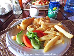 Fish 'n' Chip lunch at Royal Sunset