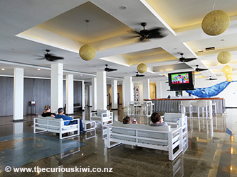 Reception area at Tanoa International Dateline Hotel