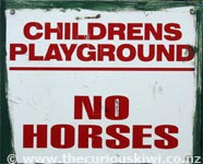 No Horses in Playground