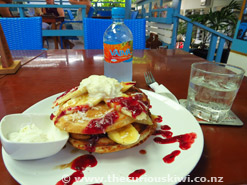 'Coconut Pancakes at The New Place Cafe