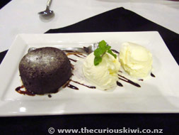 Chocolate Fondant at Waterfront Lodge