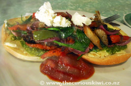 Zippy Central roasted vege bagel